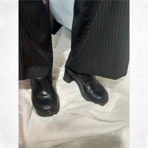 NOT FOR SALEBlack slip on heels for work or dress.